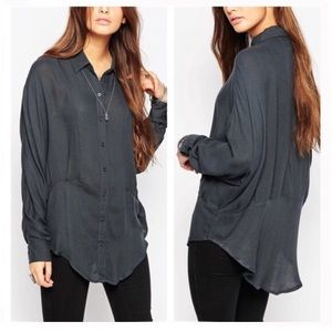 Free People True Affection Button Down Long Sleeve